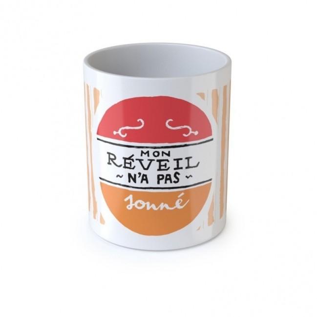 """Mug """"Mon réveil n'a pas sonné """", tazza in ceramica"""