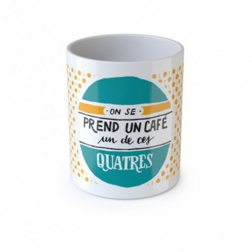 "Mug ""On se prend un café un de ces quatre"", tazza in ceramica"