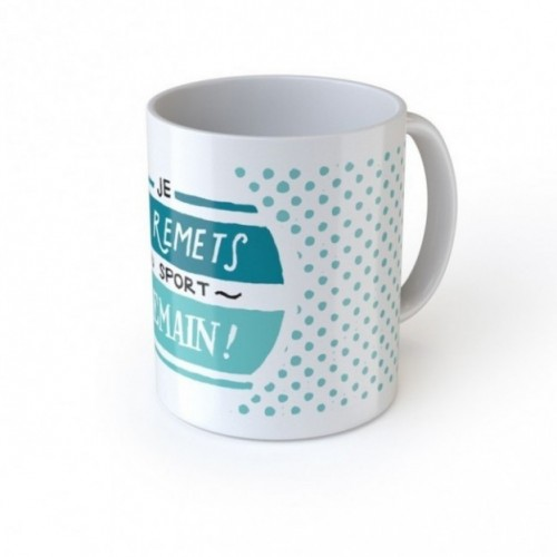 "Mug ""Je me remets au sport demain! """