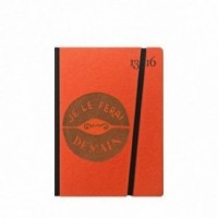 "Cahier ""Je le ferai demain"" couverture rigide ORANGE en carton naturel, format de poche SMALL, 11x15 cm"