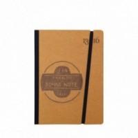 """Cahier """"J'en prends bonne note"""" couverture rigide OCRE en carton naturel, format de poche SMALL, 11x15 cm"""