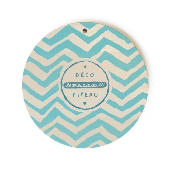 """Mono Pipeau """"J'ai piscine"""" disque décoratif en bois imprimé en couleur"""