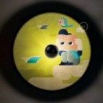Fermaluce UFO avec abat-jour en bois double-face illustré par Hikimi