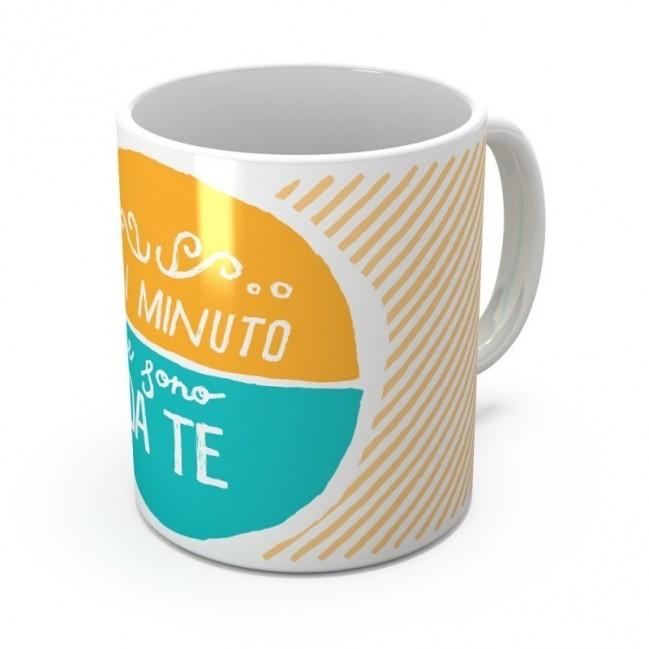 """Mug """"Un minuto e sono da te"""", tazza in ceramica"""