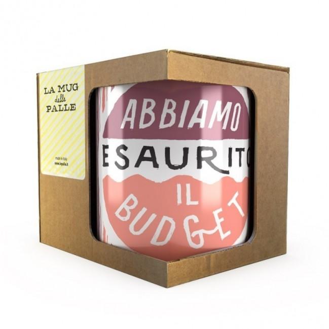 """Mug """"Abbiamo esaurito il budget"""", tazza in ceramica"""