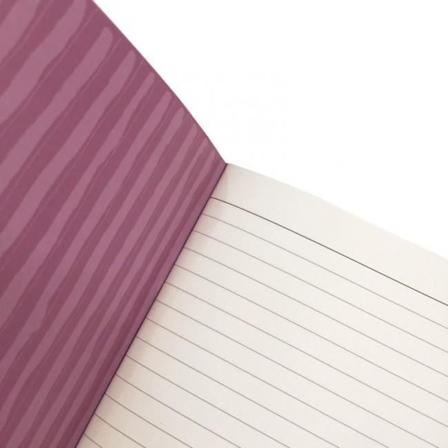 """Cahier A5 """"Lo faccio domani come prima cosa"""", 48 pages ivoire, lignes uniquement à droite"""