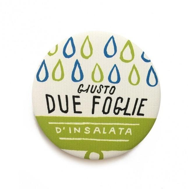 """Déco Pipeau Magnétique: aimant """"Giusto due foglie di insalata"""""""