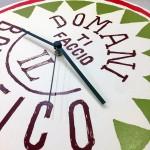 """Orologio da parete - """"Domani ti faccio il bonifico"""", stampato su cartone riciclato, diametro 32 cm con meccanismo silenzioso"""