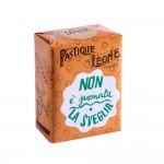 """Confezione Pastiglie Leone """"Non è suonata la sveglia"""" da 30g, caramelle senza glutine e senza coloranti artificiali"""