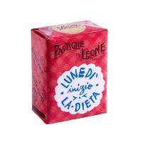 """Confezione Pastiglie Leone """"Lunedì inizio la dieta"""" da 30g, caramelle senza glutine e senza coloranti artificiali"""