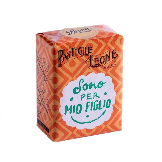 """Confezione Pastiglie Leone """"Sono per mio figlio"""" da 30g, caramelle senza glutine e senza coloranti artificiali"""