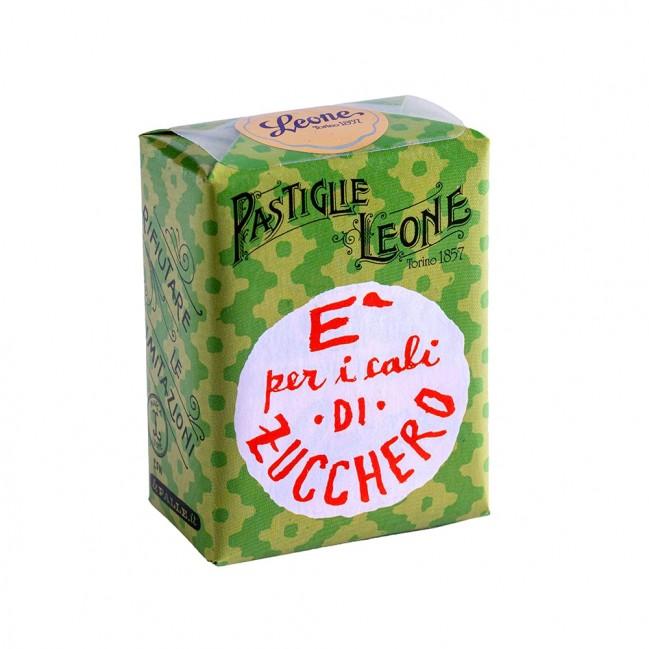 "Confezione Pastiglie Leone ""È per i cali di zuccheri"" da 30g, caramelle senza glutine e senza coloranti artificiali"