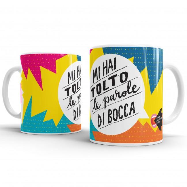 """Mug """"Mi hai tolto le parole di bocca"""", tazza in ceramica"""