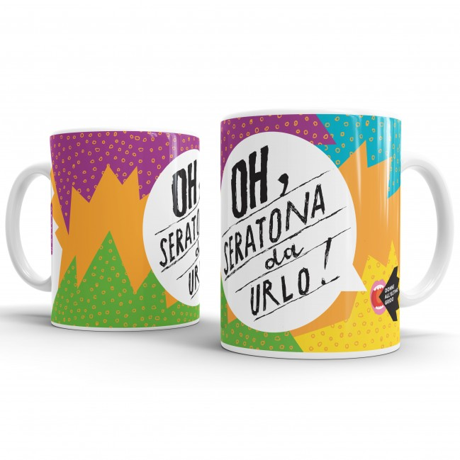 """Mug """"Oh, seratona da urlo!"""", tazza in ceramica"""
